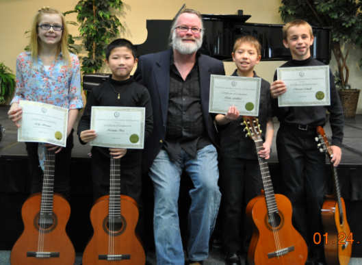 Devine Guitar School awards ceremony